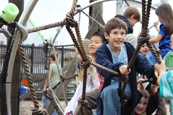 Students at the Carbon Playground