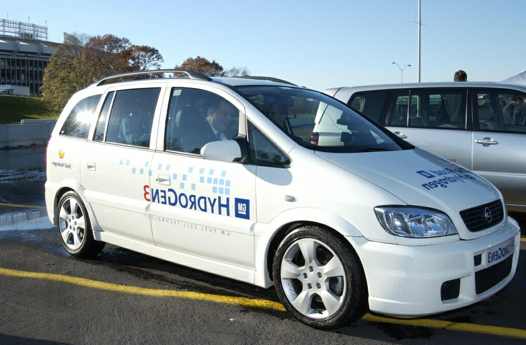 Photo: Hydrogen fuel vehicle parked in parking lot